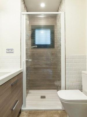 Mampara ducha transparente líneas