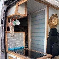 Mampara enrollable para Campers, Auto/Caravanas, Buses, Veleros, Yates, otros barcos,... Altura 172 cm